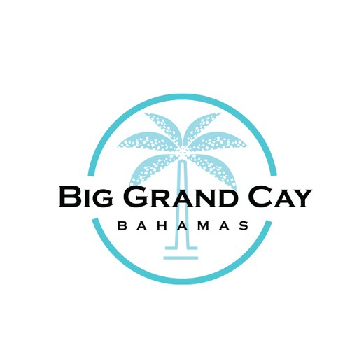Beach resort logo with the title 'Logo design for Big Grand Cay, a private family resort'