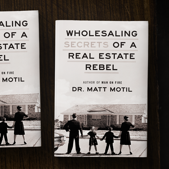 Real estate book cover with the title 'Secrets of a Real Estate Rebel'