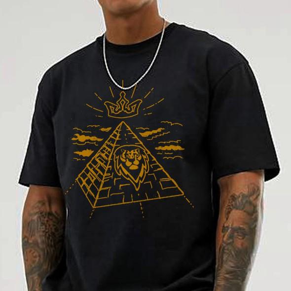 Urban art design with the title 'Illustrative T-shirt design for an urban wear brand'
