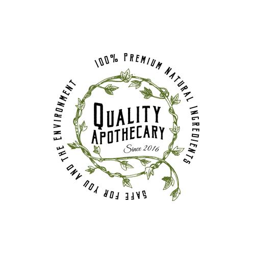 Apothecary design with the title 'organic cosmetics logo'
