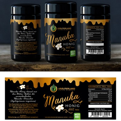 Label for Manuka Honey
