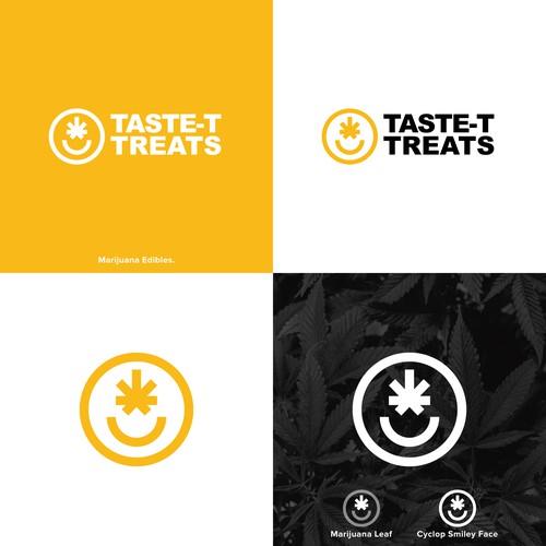 Smile design with the title 'Marijuana Logo'