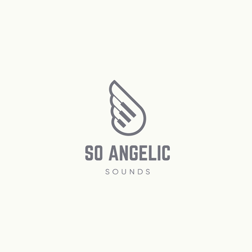 Angel heart logo with the title 'So angelic sounds'