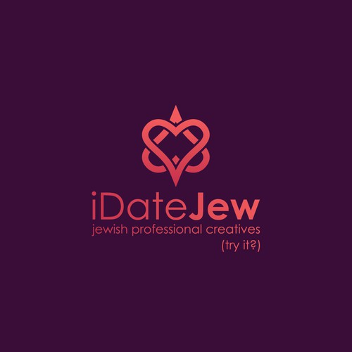 Warm logo with the title 'Logo design for a Jewish dating website'