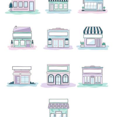 Store front illustrations