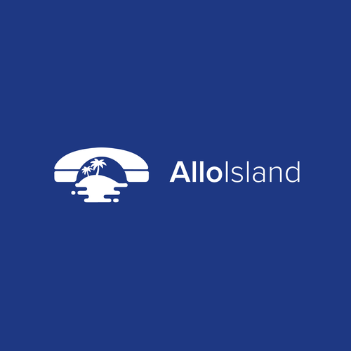 Phone logo with the title 'Allo Island'