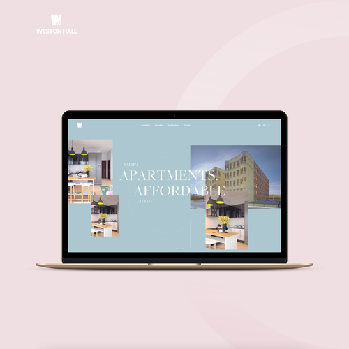 White website with the title 'Apartment Development Seeks Fresh, Clean, Modern Design Makeover.'