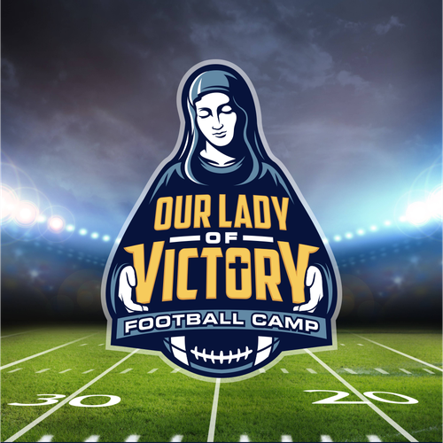 Team logo with the title 'Our Lady of Victory'