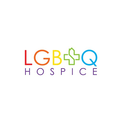 Gay logo with the title 'LGBTQ Hospice'