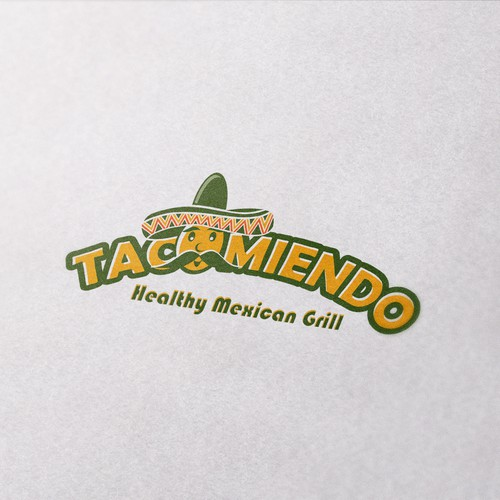 Bean design with the title 'Logo proposal for Mexican Restaurant'