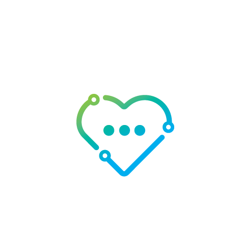 Messaging logo with the title 'Healthcare message app'