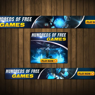 Advertising banners for an online games portal