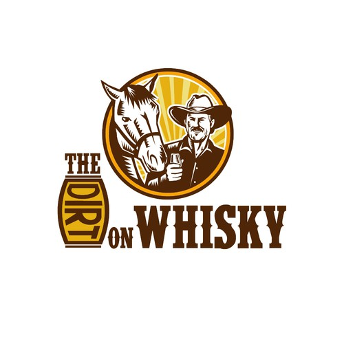 Woodcut logo with the title 'The Dirt on Whisky'