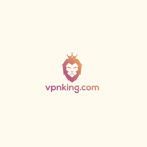 Lion head logo with the title 'Vpn King'