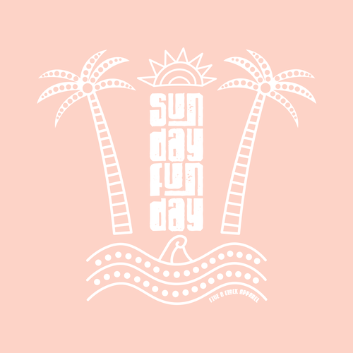 Ocean wave design with the title 'Sunday Funday'