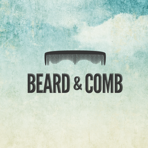 Vintage logo with the title 'Beard & Comb'