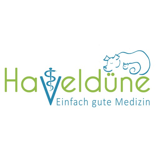 Animal hospital logo with the title 'Design for German veterinary practice'