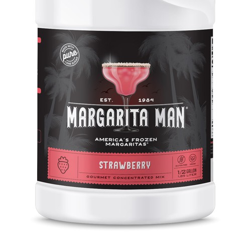 Retro label with the title 'Label for Margarita Concentrated Mix'