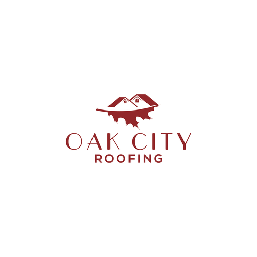 Oak leaf logo with the title 'Oak City Roofing'