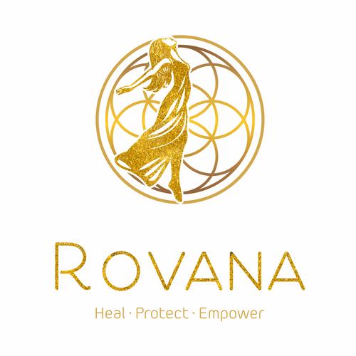 Mandala logo with the title 'Luxury logo for Rovana'