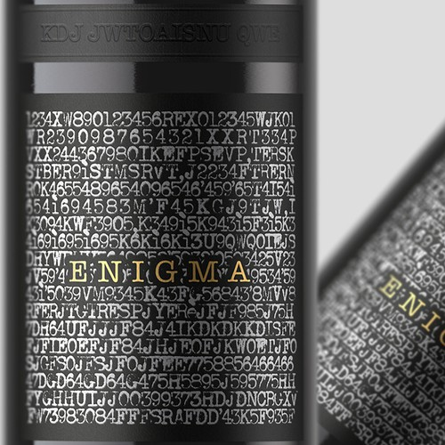Wine packaging with the title 'Wine label for special edition '