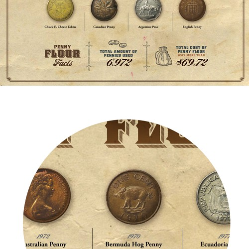 Antique design with the title 'Antique-look, fun treasure map'