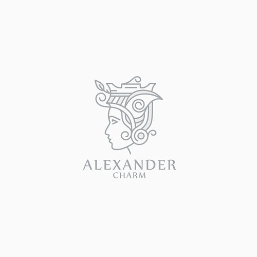 Greek design with the title 'Logo for Alexander Charm'