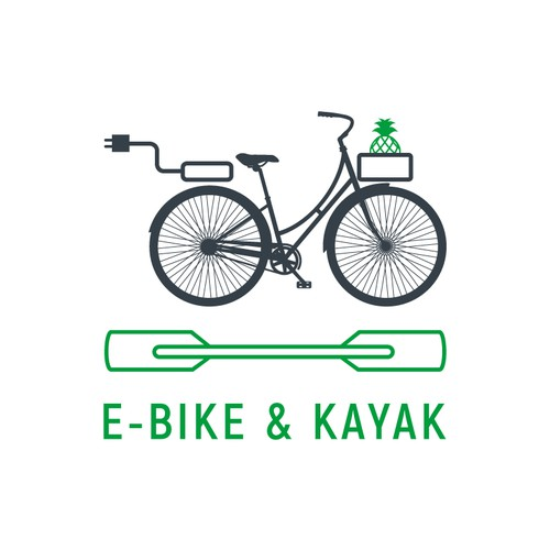 Canoe logo with the title 'E-Bike and Kayak'