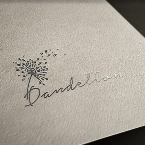 Flower logo with the title 'My ,,Dandelion,, logo design'