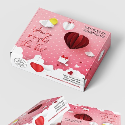 Gift packaging with the title 'Gift Box Packaging Design'