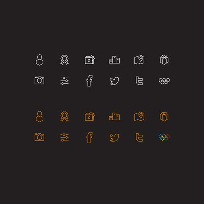 Hexagonal icons for app
