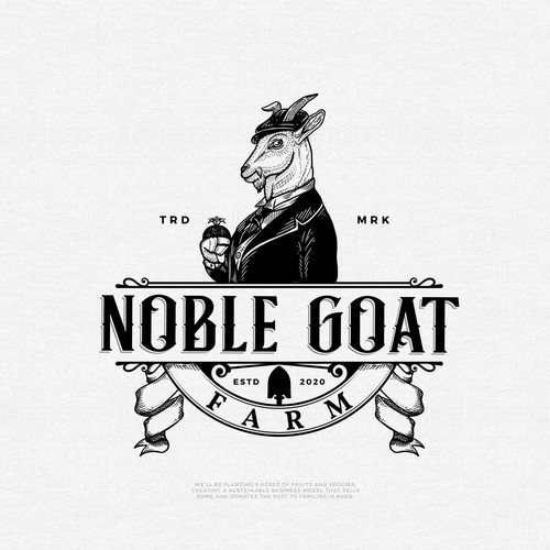 Pomegranate logo with the title 'Noble Goat'