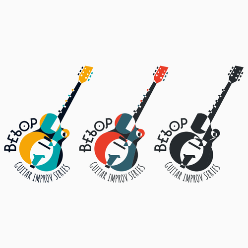 Acoustic logo with the title 'Jazz Guitar Logo'