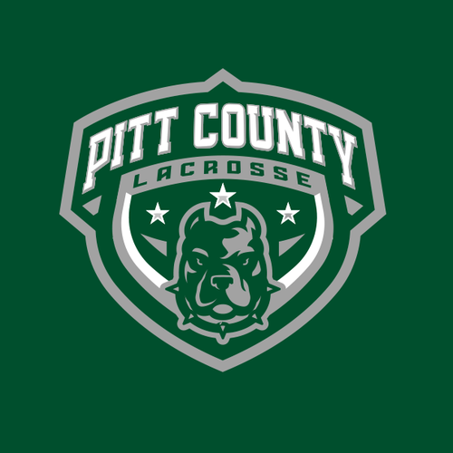 Lacrosse logo with the title 'Pitt County Lacrosse'