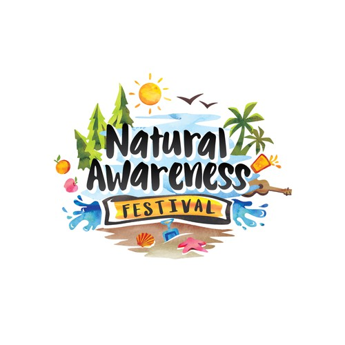 Festival logo with the title 'Natural Awarness Festival Logo'