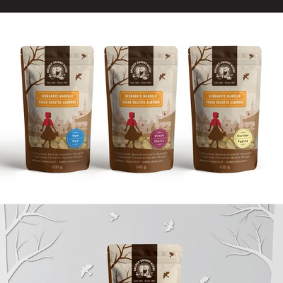 Logo, package and illustrations for sugar roasted nuts company