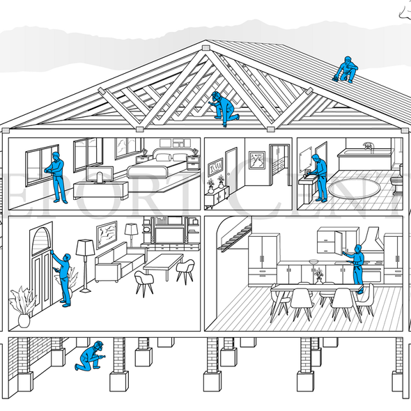 Security illustration with the title 'Building Inspector'