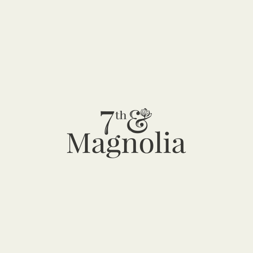 Magnolia design with the title 'simple elegant logo'