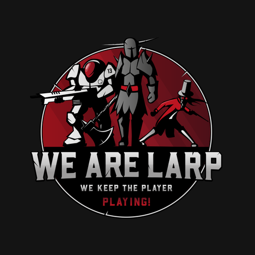 RPG design with the title 'We Are Larp '
