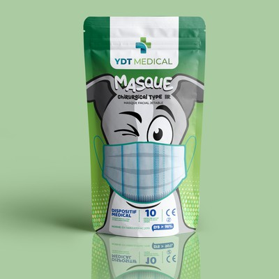 Medical face mask packaging