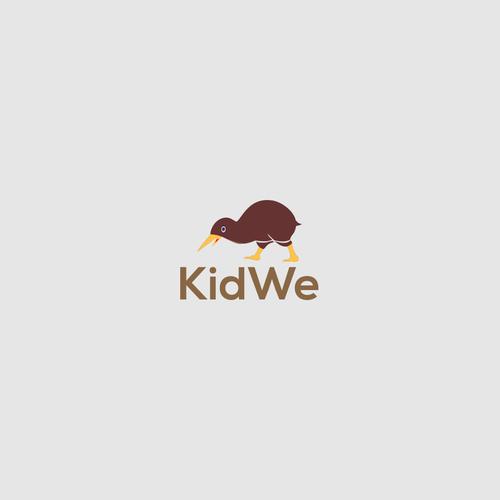 Kiwi logo with the title 'KidWe'