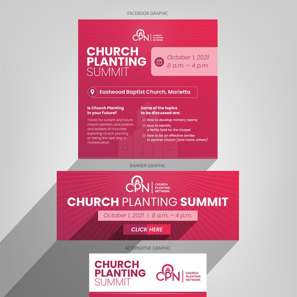 Church design with the title 'Church Planting Network Web Social Designs'