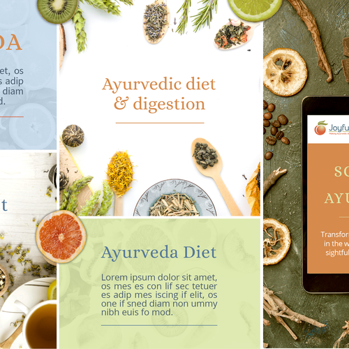 Photo editing design with the title 'Ayurveda Stylescape for Brand Guide'