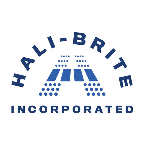 Adaptive logo with the title 'Hali-Brite Inc. Logo Design'