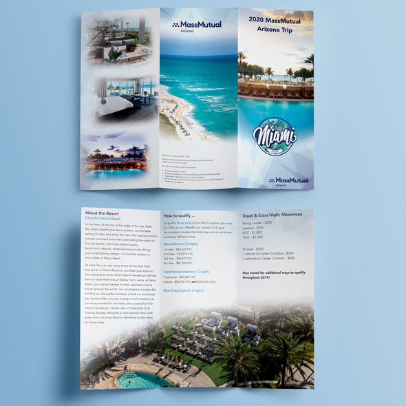 Miami design with the title 'A Firm's Contest Brochure'
