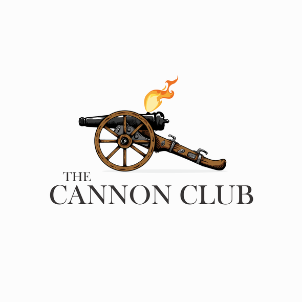 Golf club design with the title 'The Cannon Club'