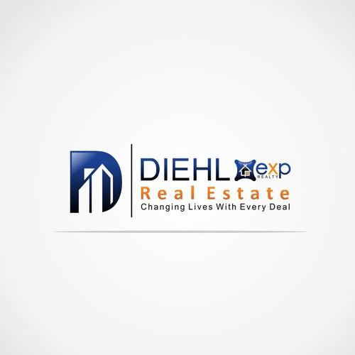 D logo with the title 'Letter D concept design for real estate and mortgage industry'