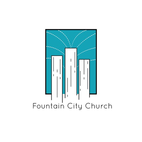 Stylized logo with the title 'Fountain City Church logo'