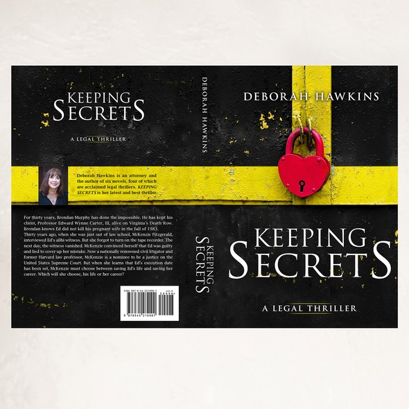 Lock design with the title 'Book cover for Keeping Secrets'