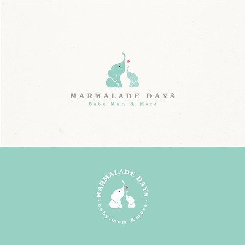 Baby logo with the title 'Marmalade days'